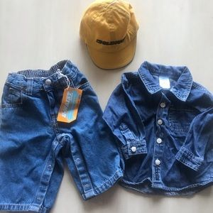 NWT old navy denim  boys lot 3-6 months